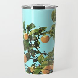 Summer Orange Tree Travel Mug