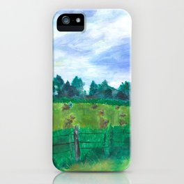 Haying on Hanover Hills iPhone Case