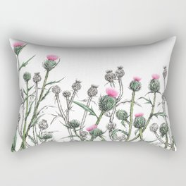 Thickets of Thistles hand drawing  Rectangular Pillow