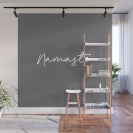 Namaste - Grey and White Wall Mural