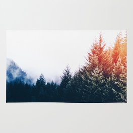 Waking up in a forest Rug