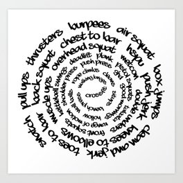 Crossfit Spiral Art Print