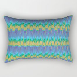 Abstract Digital Artwork Lavender Field Rectangular Pillow