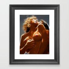 9480 Two Lovers Embrace Sensual Erotic Fractal Art by Chris Maher Framed Art Print