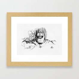 Warbot Sketch #017 Framed Art Print
