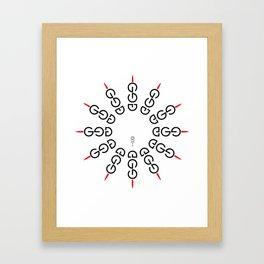 god/ego Framed Art Print