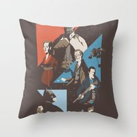 pain Throw Pillows featuring Pain by Florey