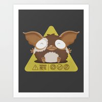 gizmo Art Prints featuring gizmo by Eva Puyal