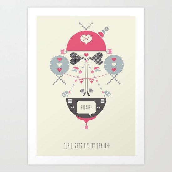 Anti Valentines - Fuck Off Art Print