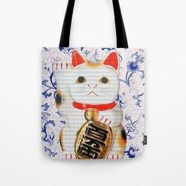 MANEKINEKO CAT PINK PATTERN Tote Bag