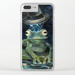 Froggy Heaven Clear iPhone Case