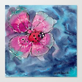 Lucky Ladybug Canvas Print