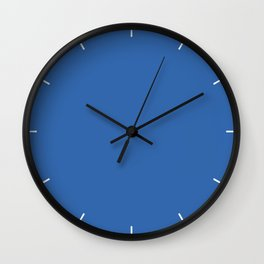 Palace Blue | Pantone Fashion Color Spring : Summer 2018 | London Solid Color Wall Clock