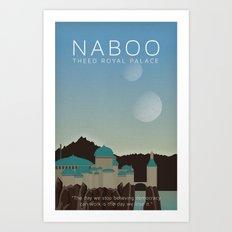 Star Wars Naboo Theed Art Print