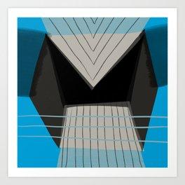 Blue Architecture 2 Art Print