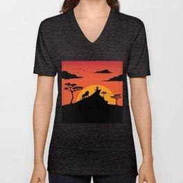 Savannah Sunset Unisex V-Neck