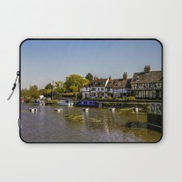Tudor homes along River Avon. Laptop Sleeve