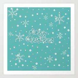 New Year, Christmas, winter holidays illustration Art Print