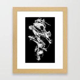 flesh character  Framed Art Print