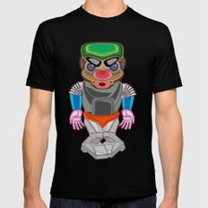 ROBOT MEDIUM Mens Fitted Tee Black