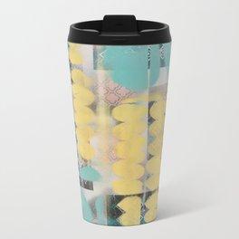 Abstract yellow and blue Metal Travel Mug