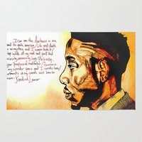 kendrick lamar Area & Throw Rugs featuring Kendrick Lamar by Monroe the artist