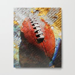 Football ball vs 6 Metal Print
