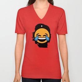 Che Guevara Crying Emoji Unisex V-Neck