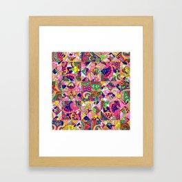 60's Crown of Thorns Quilt Framed Art Print