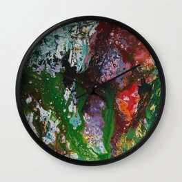 abstract jungle flowers closeup Wall Clock