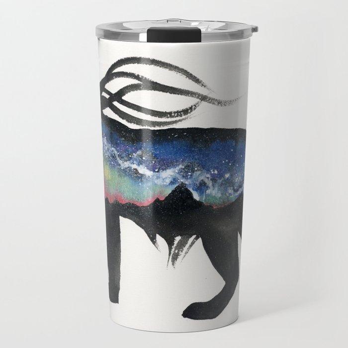 Aurora Milky Way Lynx. Travel Mug