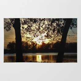 Kansas Golden Sunset Reflection Rug
