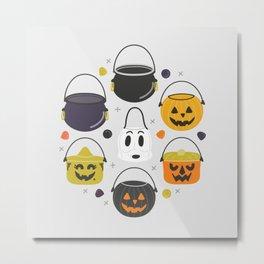 Halloween Candy Buckets Metal Print