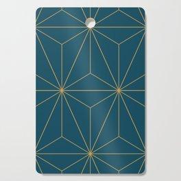 Peacock blue geometrical pyramid Cutting Board