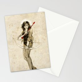 This angelic beating girl Stationery Cards