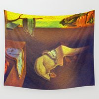 1989 Wall Tapestries featuring The Persistence of Memory  by Chris' Landscape Images & Designs
