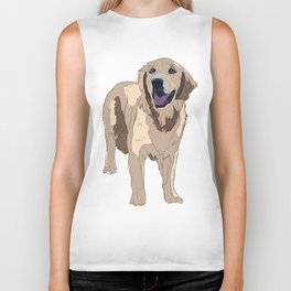 Golden Retriever Biker Tank
