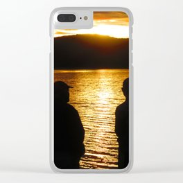 Father and son time Clear iPhone Case