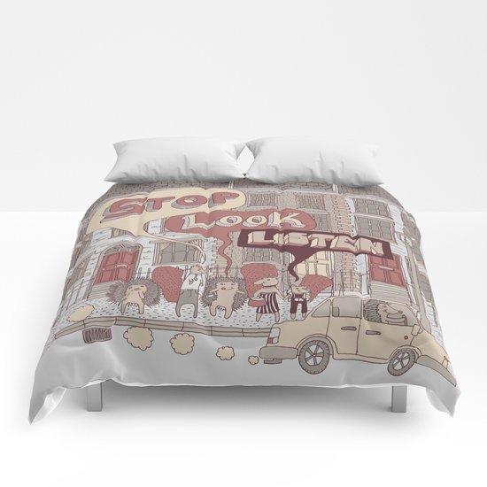 Stop, Look, Listen Comforters