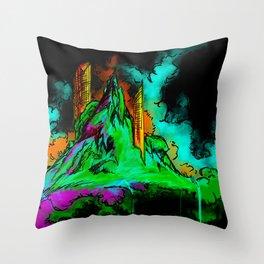 Spray Mountain Throw Pillow