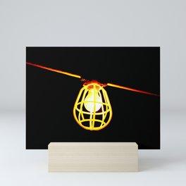 Tungsten light bulb Mini Art Print