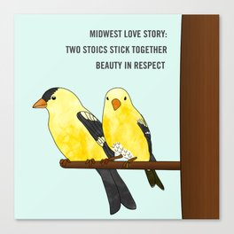 Midwest Love Story Canvas Print