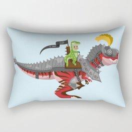 Dino Knight T-Rex II Rectangular Pillow