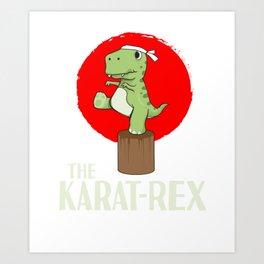 T-Rex Karate Martial Arts Kids Training Gift Art Print