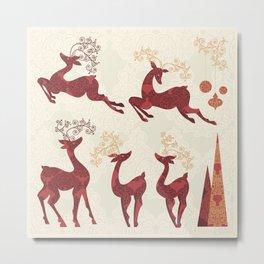 Deer. Winter Holidays! Metal Print