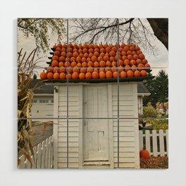 The Pumpkin House Wood Wall Art