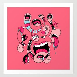 Big Mouths Art Print