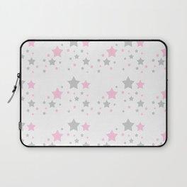 Pink Grey Gray Stars Laptop Sleeve