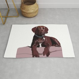 Labrador dog (chocolate) Rug