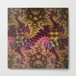 Dragon dreams, fractal pattern abstract Metal Print